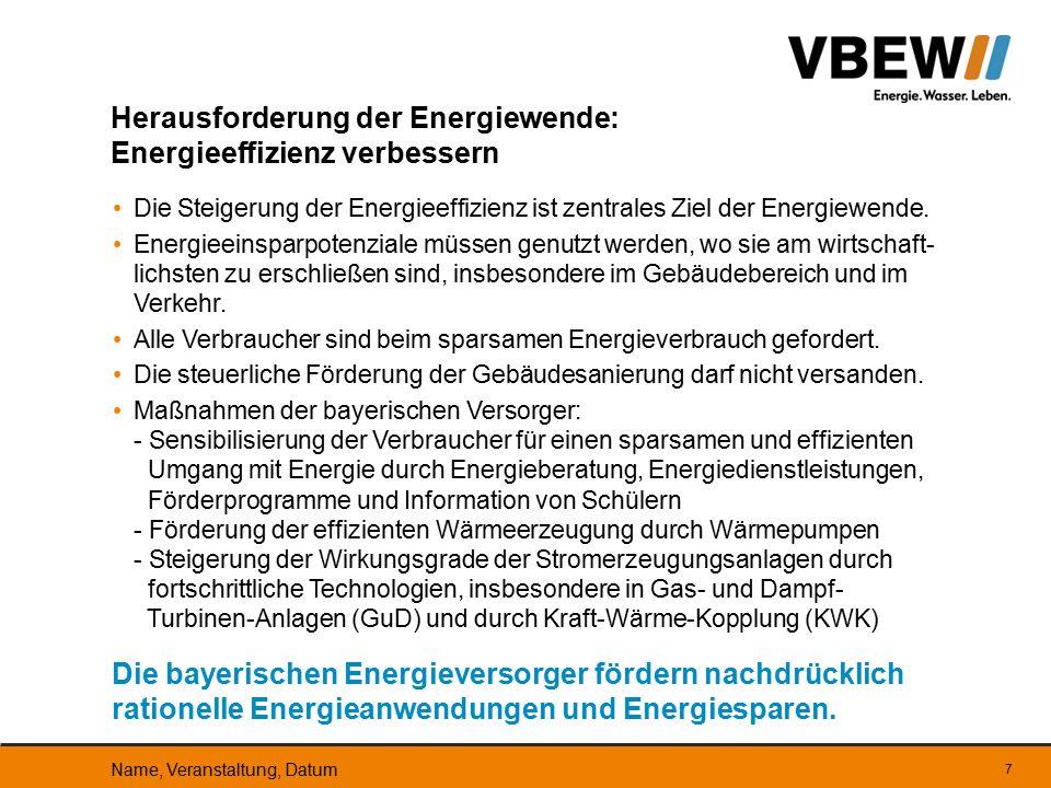 Herausforderung der Energiewende: Energieeffizienz verbessern