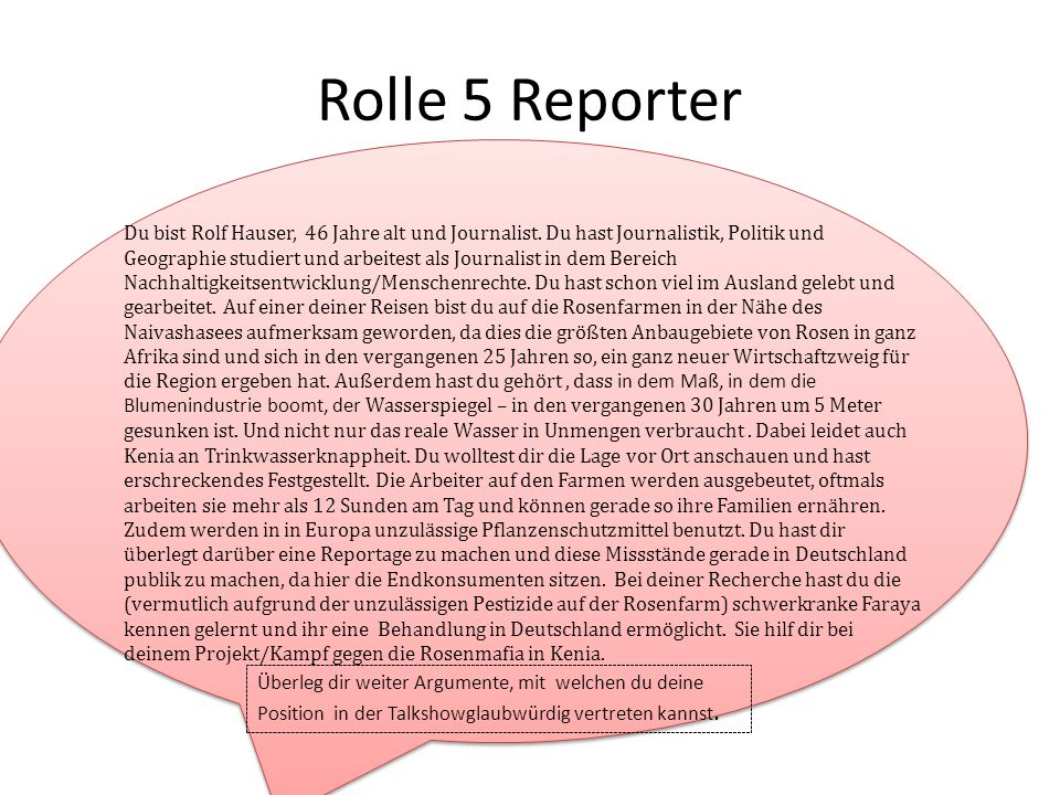 Rolle 5 Reporter