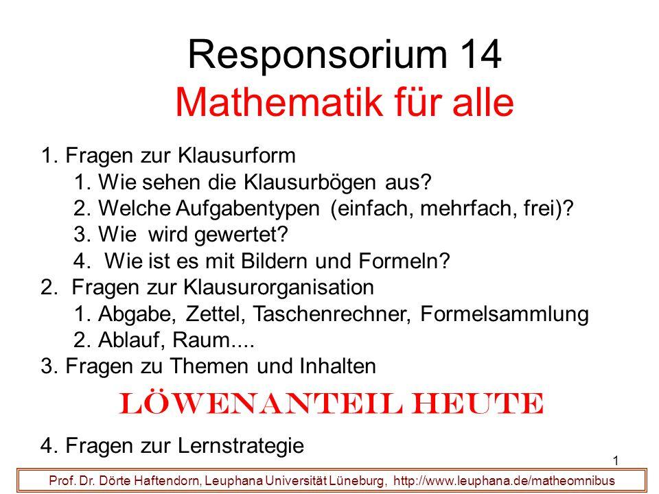 Responsorium 14 Mathematik für alle