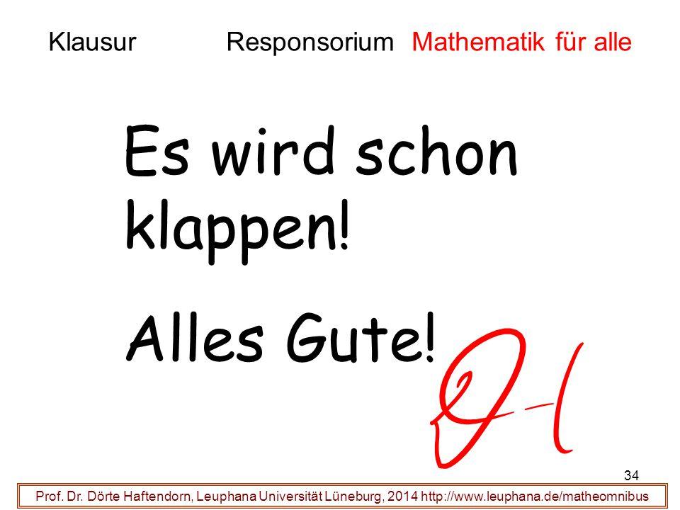 Klausur Responsorium Mathematik für alle