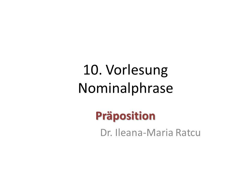 10. Vorlesung Nominalphrase