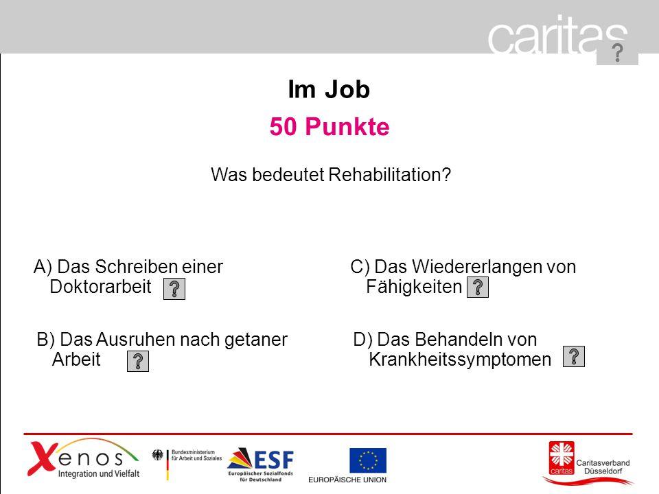 Was bedeutet Rehabilitation