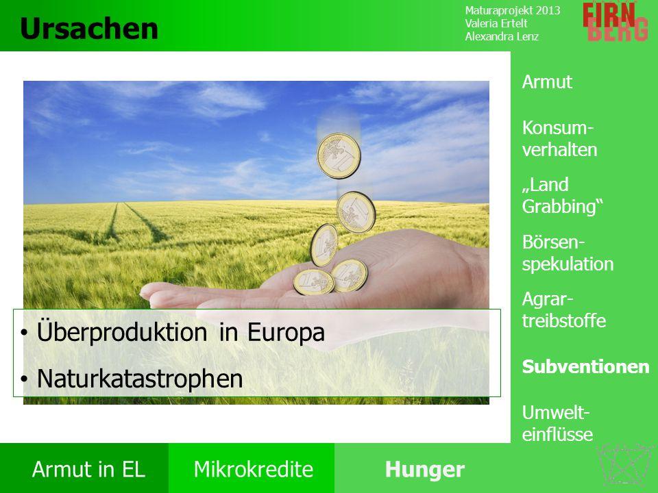 Ursachen Überproduktion in Europa Naturkatastrophen Armut