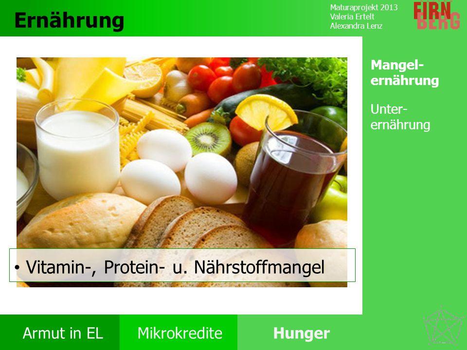 Ernährung Vitamin-, Protein- u. Nährstoffmangel Mangel-ernährung