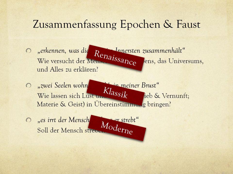 Zusammenfassung Epochen & Faust