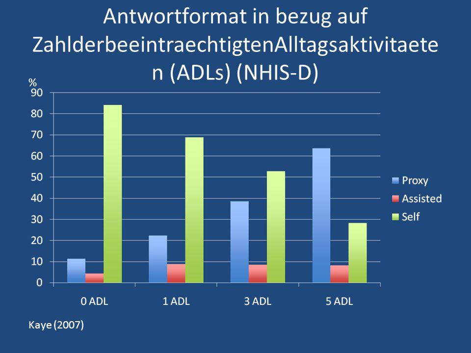 Antwortformat in bezug auf ZahlderbeeintraechtigtenAlltagsaktivitaeten (ADLs) (NHIS-D)