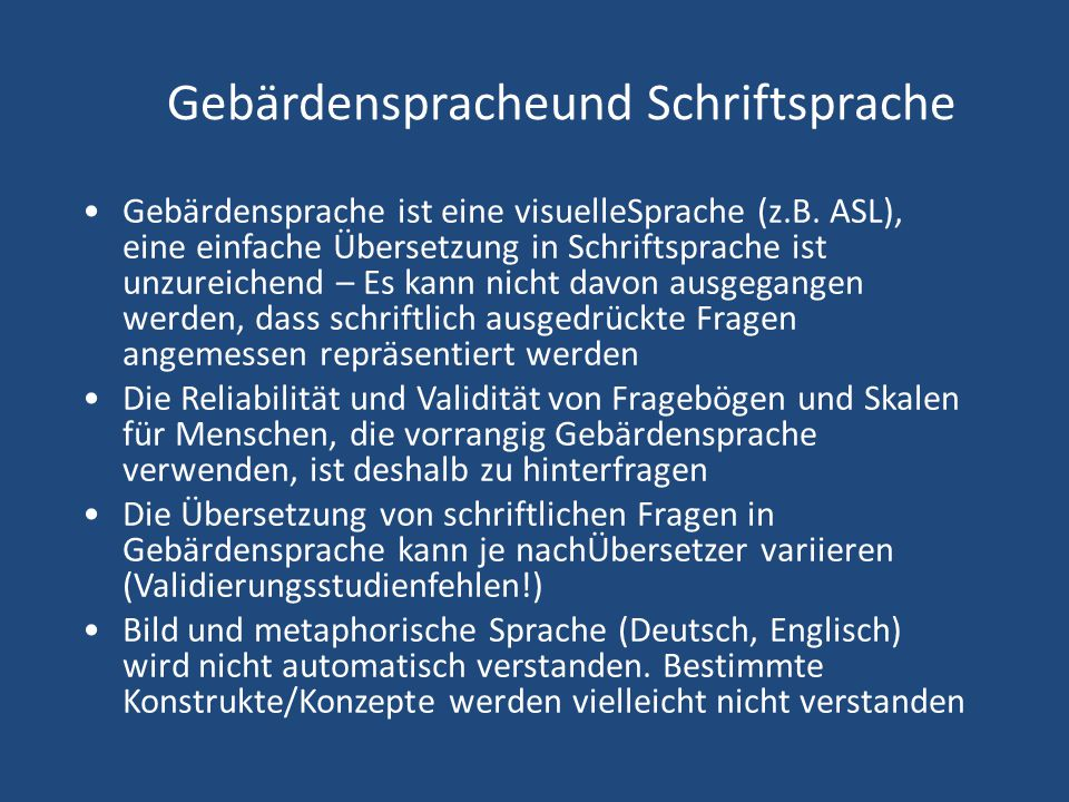 Gebärdenspracheund Schriftsprache