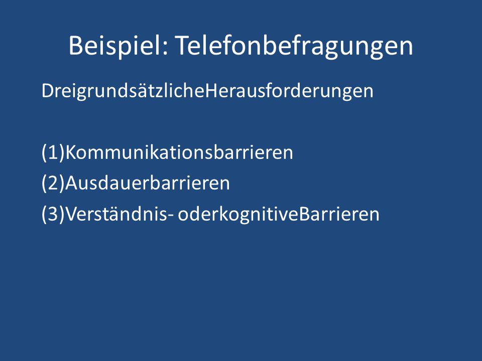 Beispiel: Telefonbefragungen
