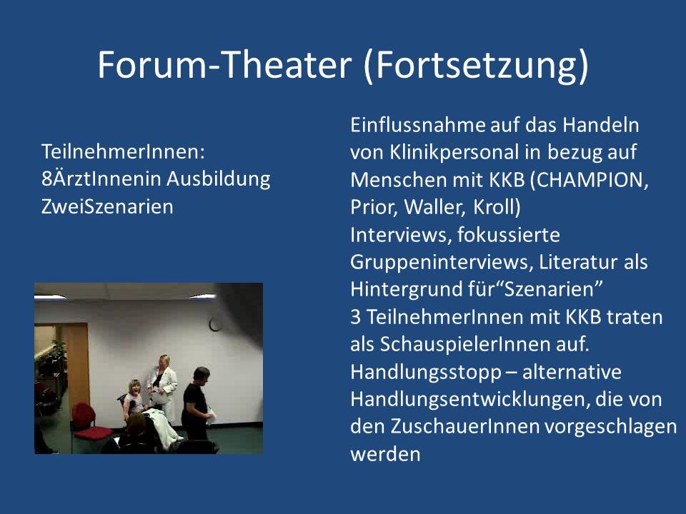 Forum-Theater (Fortsetzung)