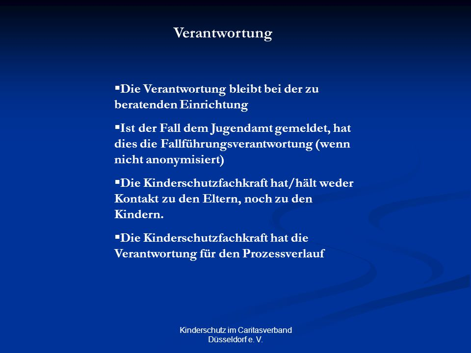 Kinderschutz im Caritasverband Düsseldorf e. V.