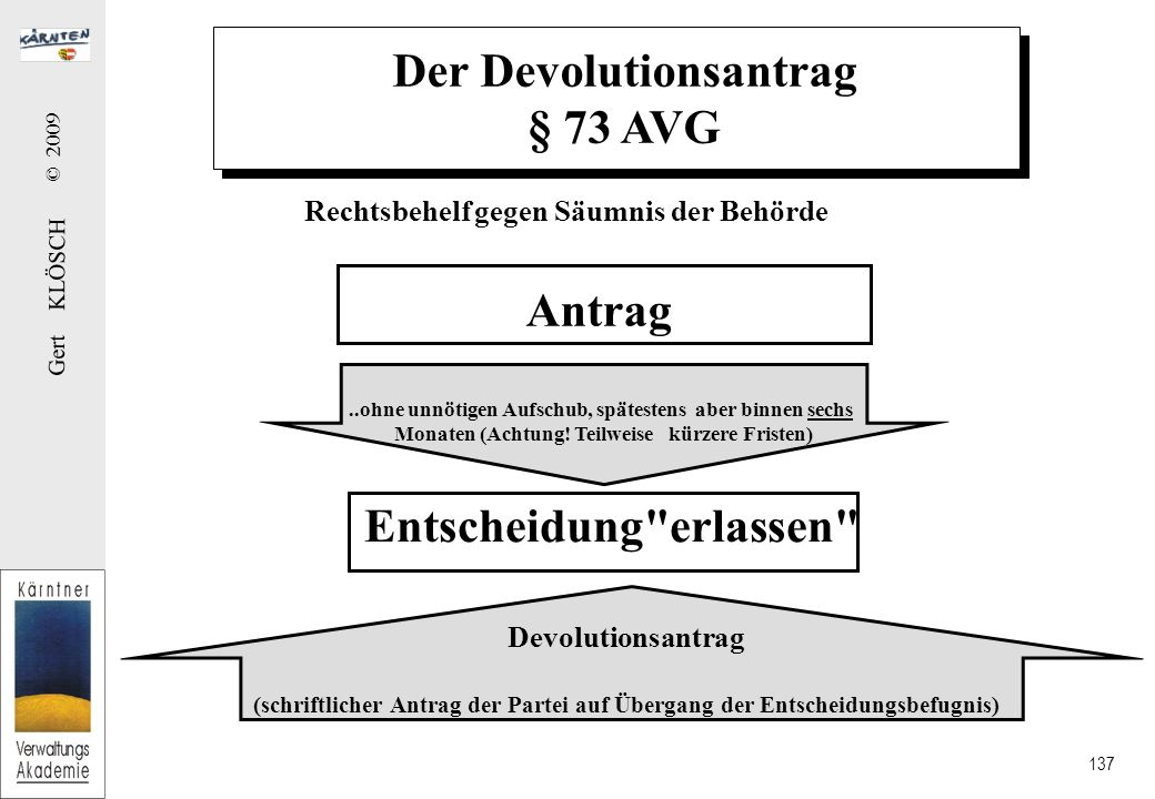 Der Devolutionsantrag²