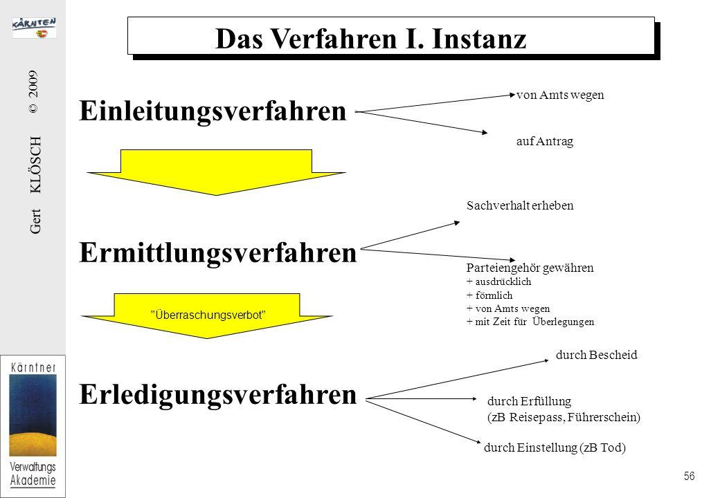 Grundsätze im Verfahren I. Instanz