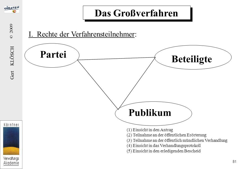 Das Großverfahren J. Erstellung eines Rasters: