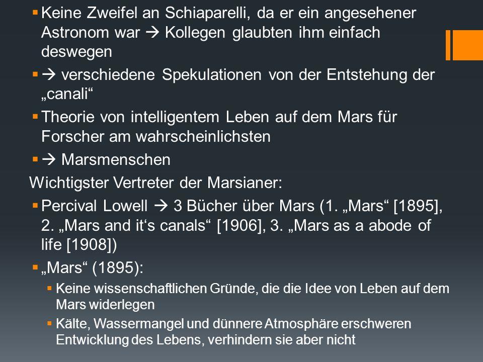 """ verschiedene Spekulationen von der Entstehung der """"canali"""
