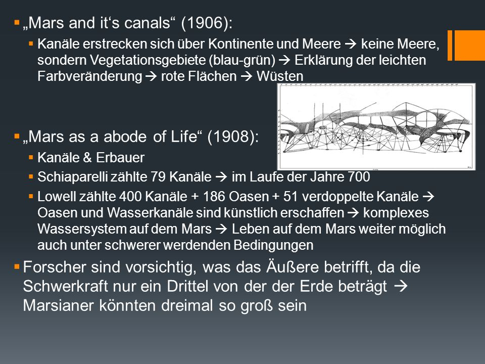 """Mars and it's canals (1906):"