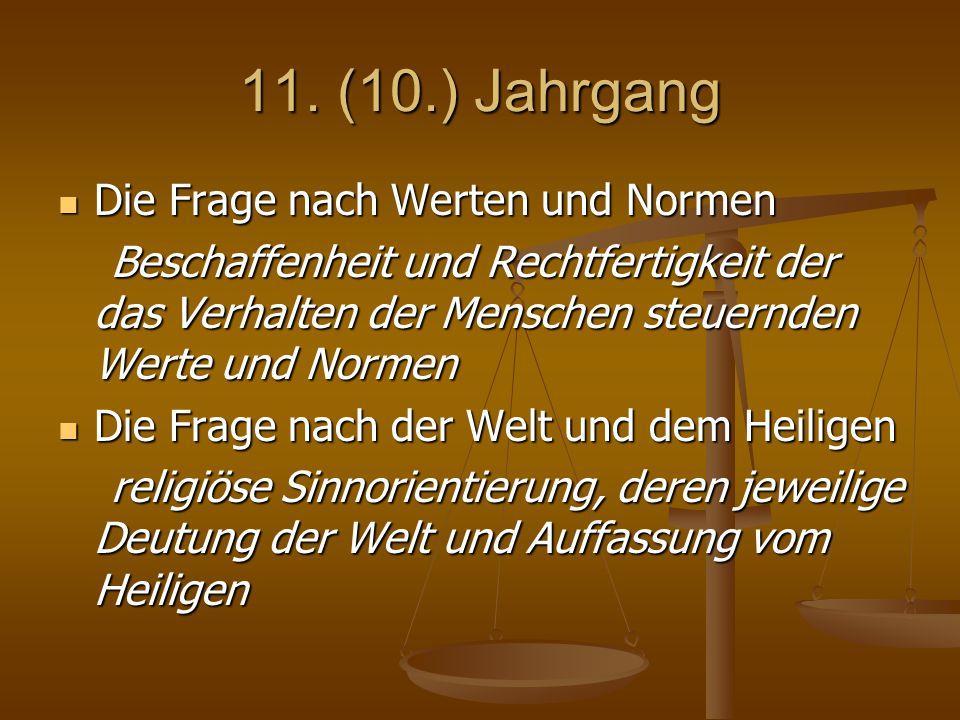 11. (10.) Jahrgang Die Frage nach Werten und Normen