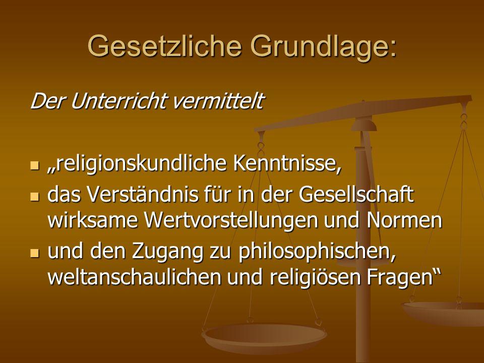 Gesetzliche Grundlage: