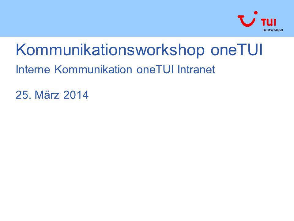 Kommunikationsworkshop oneTUI