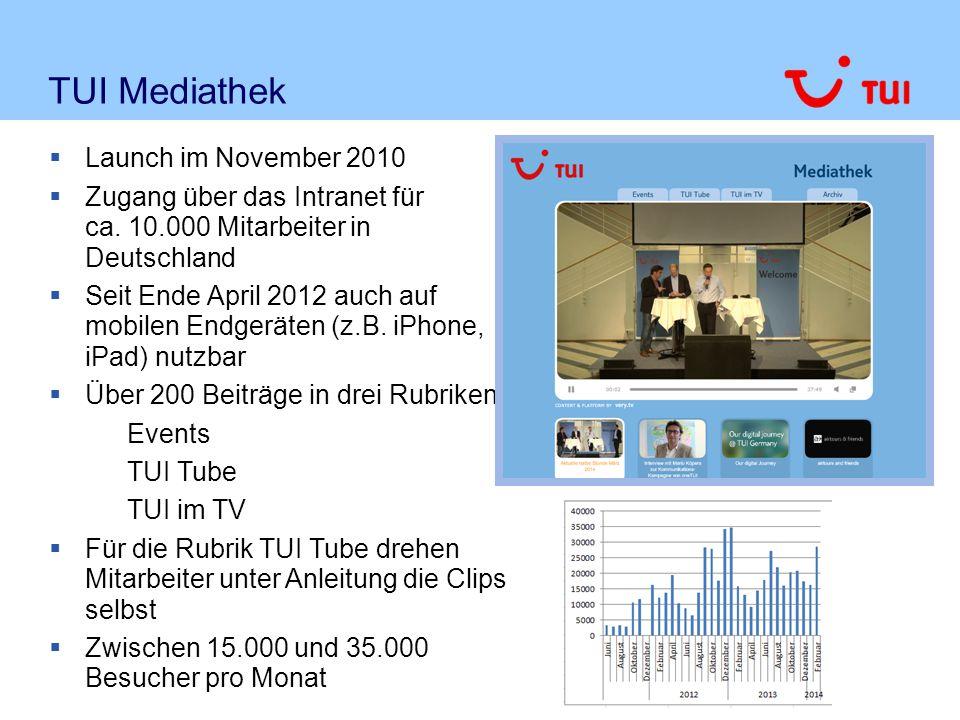 TUI Mediathek Launch im November 2010