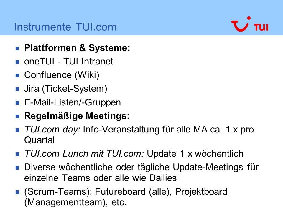 Instrumente TUI.com Plattformen & Systeme: oneTUI - TUI Intranet