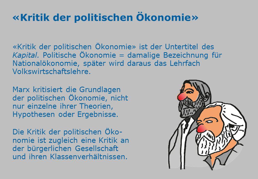 «Kritik der politischen Ökonomie»