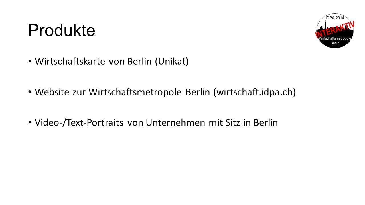 Produkte Wirtschaftskarte von Berlin (Unikat)
