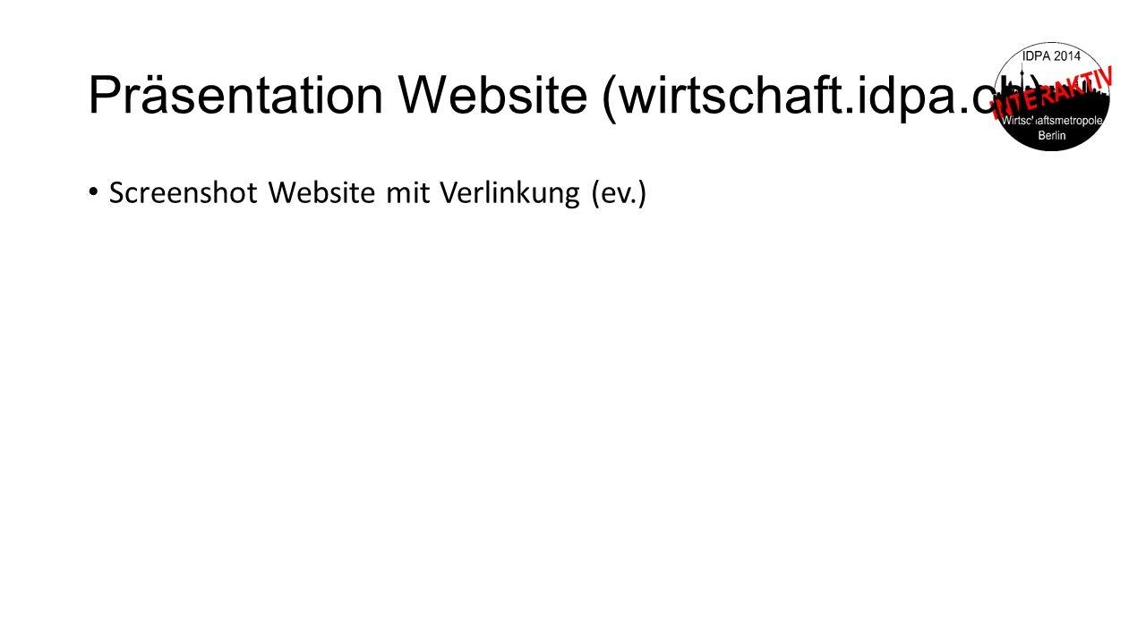 Präsentation Website (wirtschaft.idpa.ch)