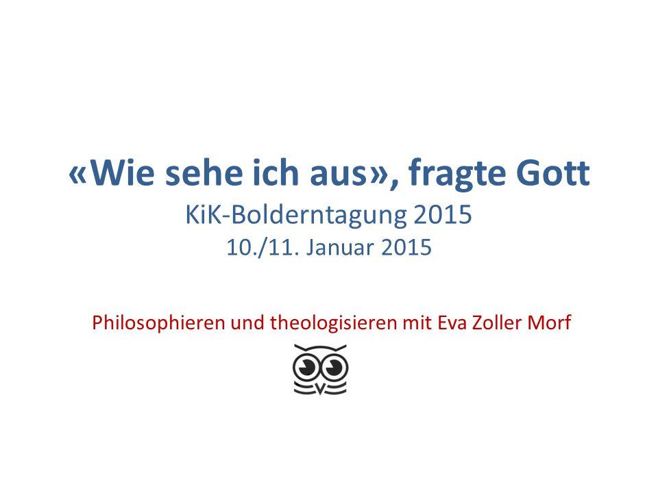 Philosophieren und theologisieren mit Eva Zoller Morf