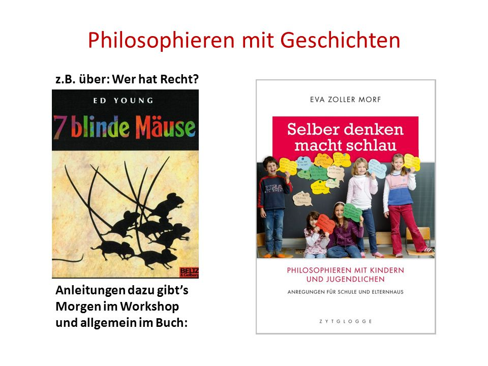 Philosophieren mit Geschichten
