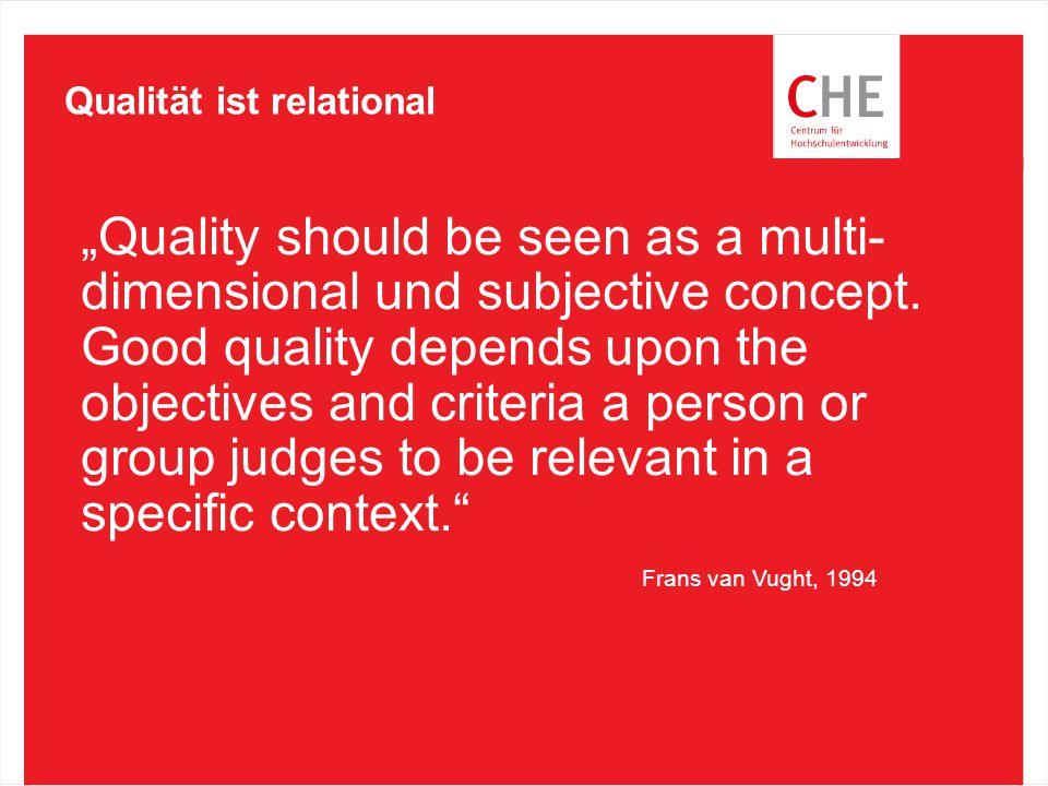 Qualität ist relational