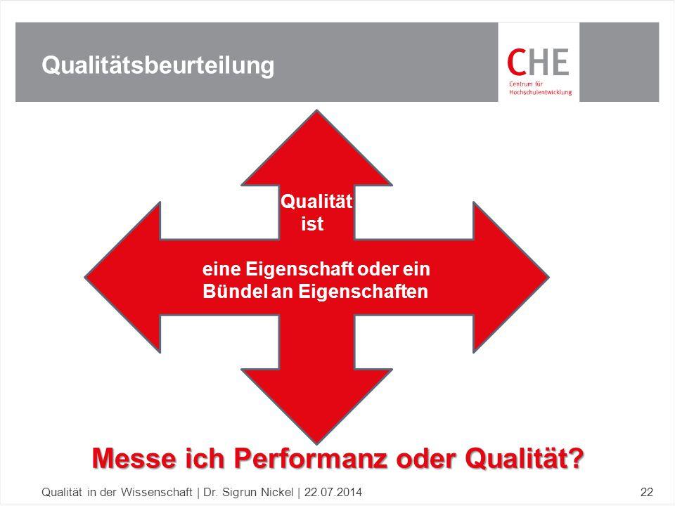 Qualitätsbeurteilung