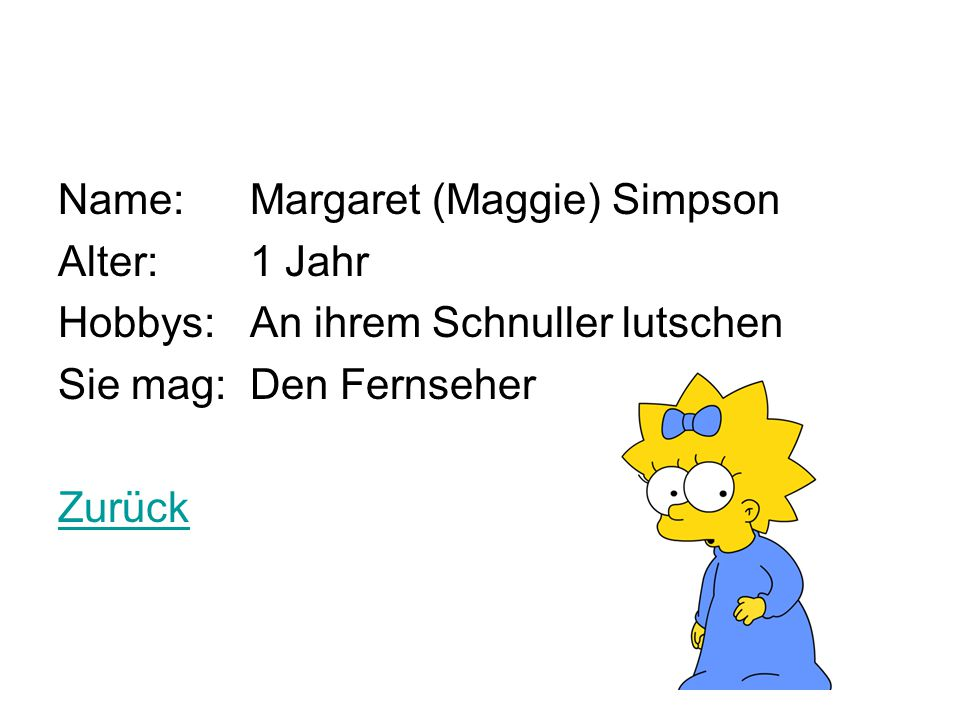 Name: Margaret (Maggie) Simpson