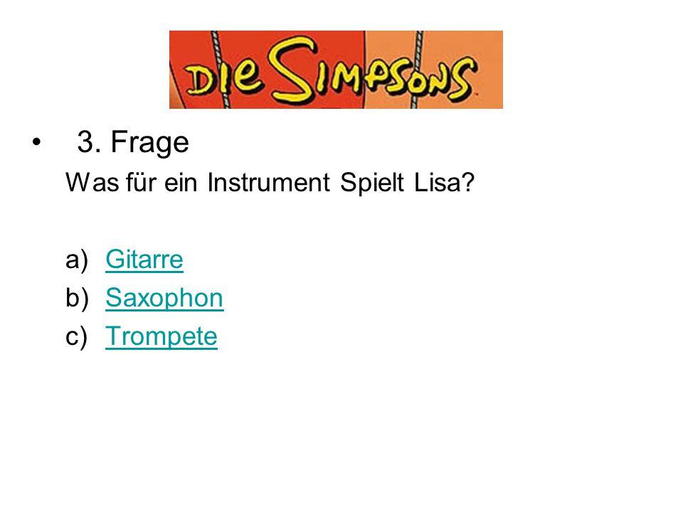 Quiz 3. Frage Was für ein Instrument Spielt Lisa Gitarre Saxophon