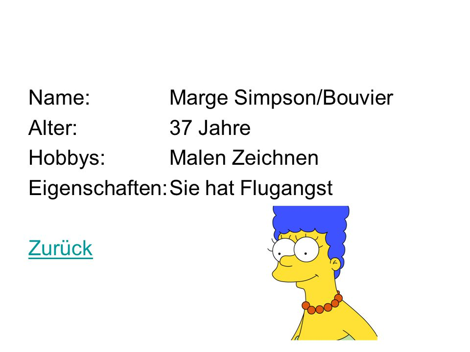 Name: Marge Simpson/Bouvier