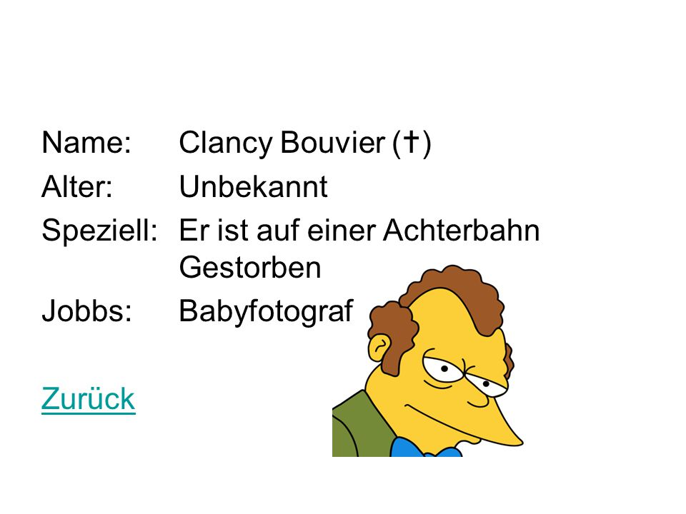 Name: Clancy Bouvier ()