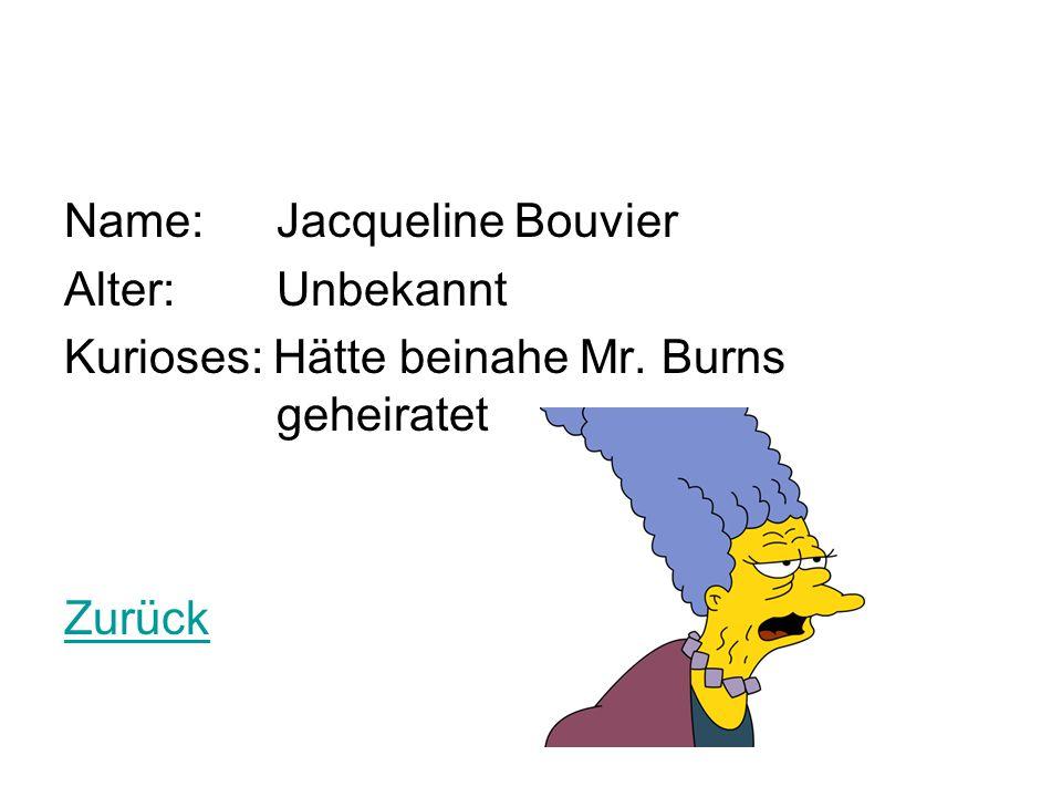 Name: Jacqueline Bouvier