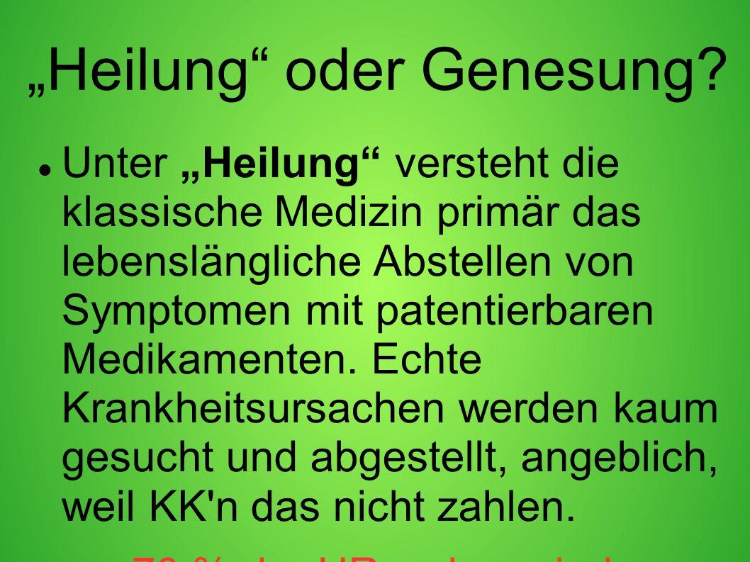 """""""Heilung oder Genesung"""