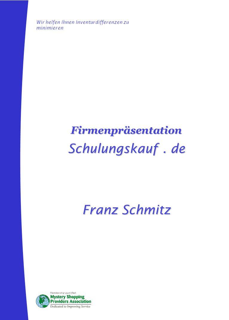 Schulungskauf . de Franz Schmitz Firmenpräsentation