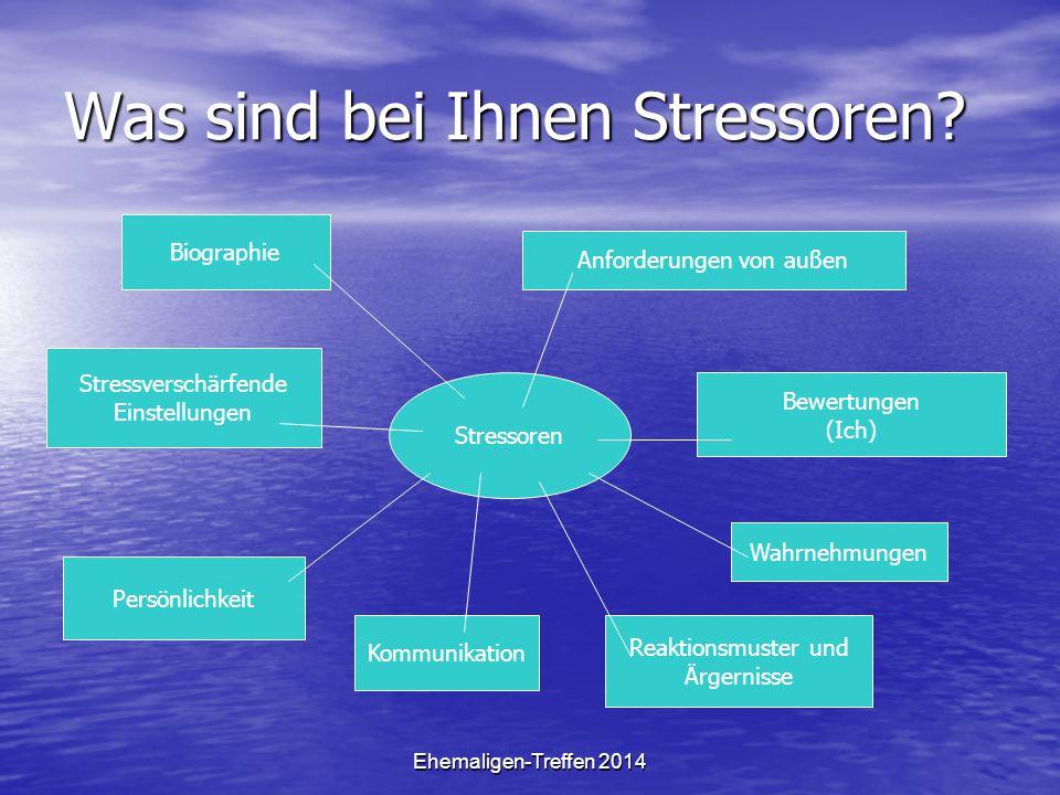 Was sind bei Ihnen Stressoren