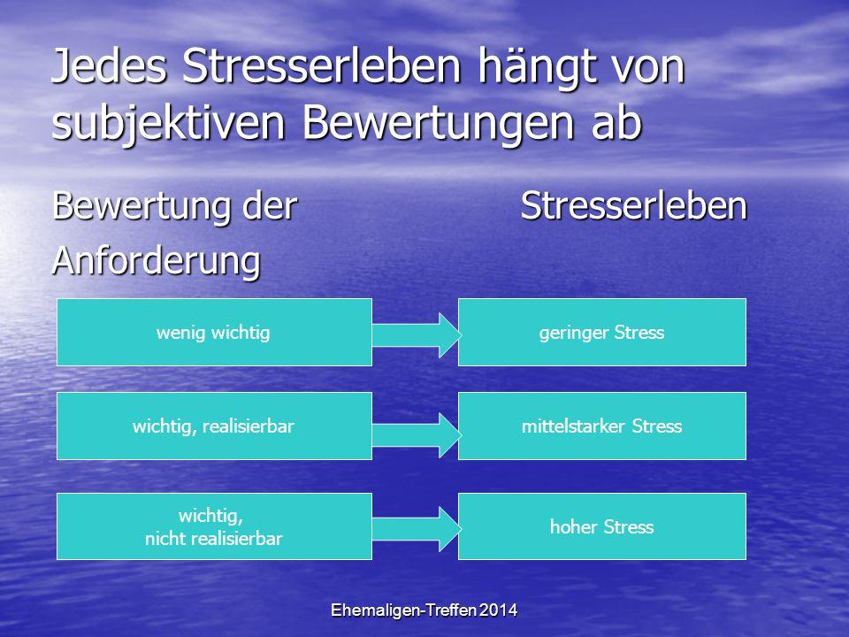 Jedes Stresserleben hängt von subjektiven Bewertungen ab