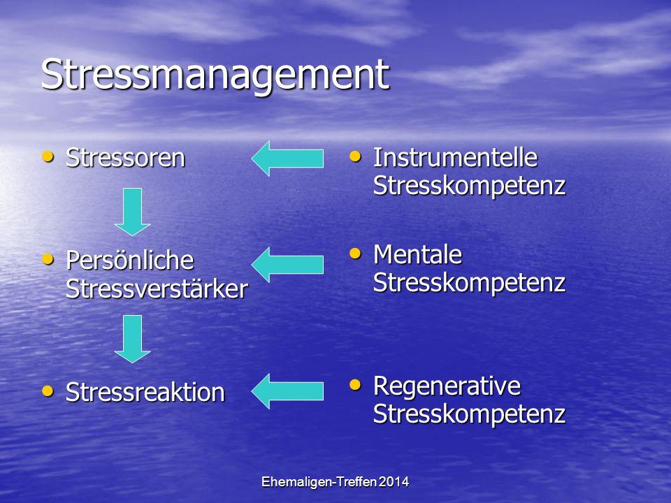 Stressmanagement Stressoren Persönliche Stressverstärker