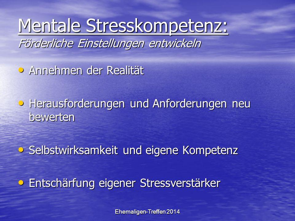 Mentale Stresskompetenz: Förderliche Einstellungen entwickeln