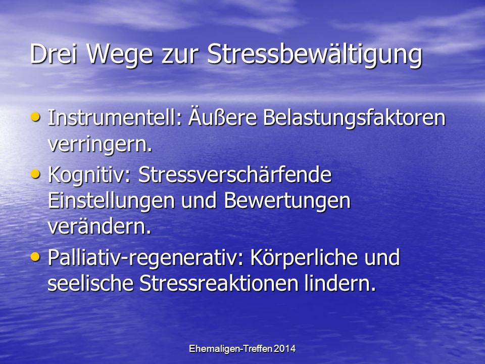 Drei Wege zur Stressbewältigung