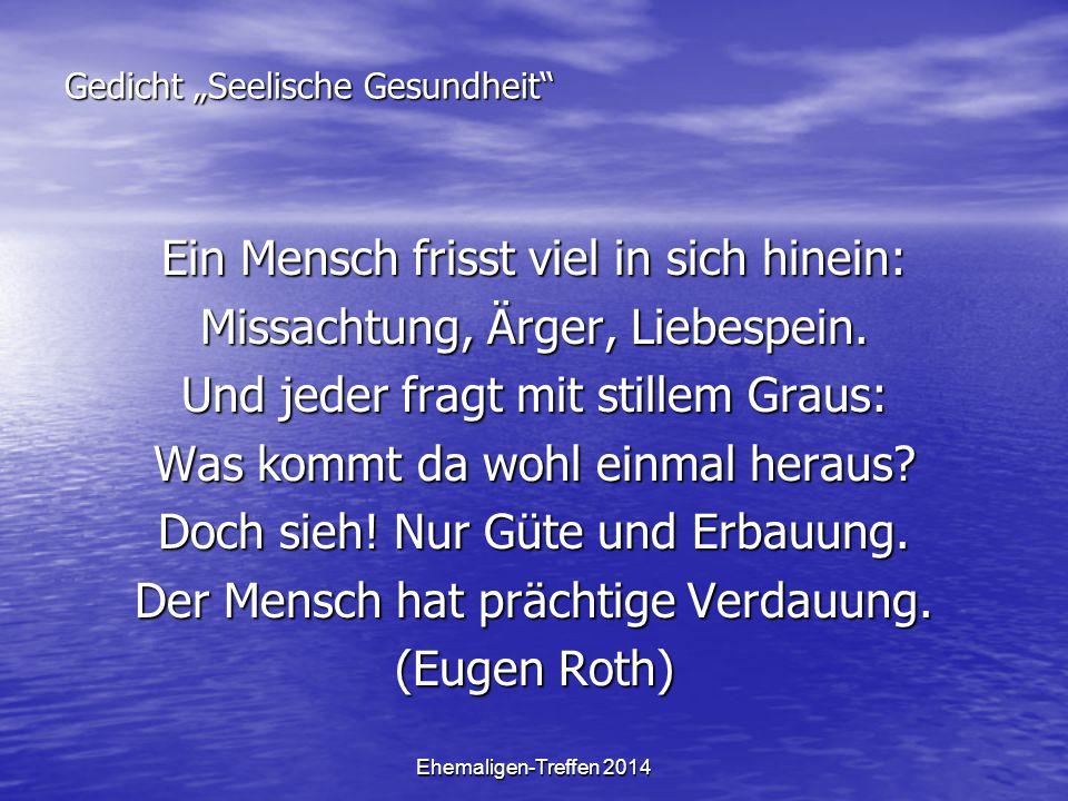 """Gedicht """"Seelische Gesundheit"""