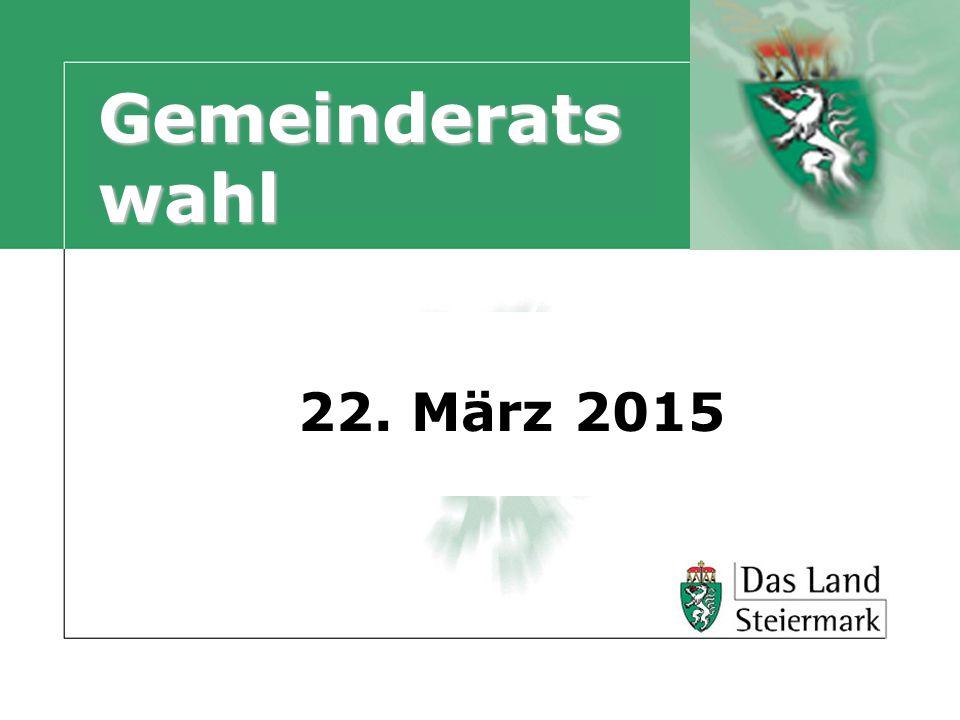 Gemeinderatswahl 22. März 2015