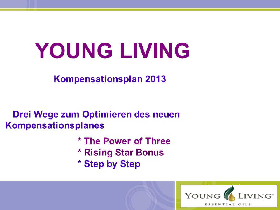 YOUNG LIVING Kompensationsplan 2013