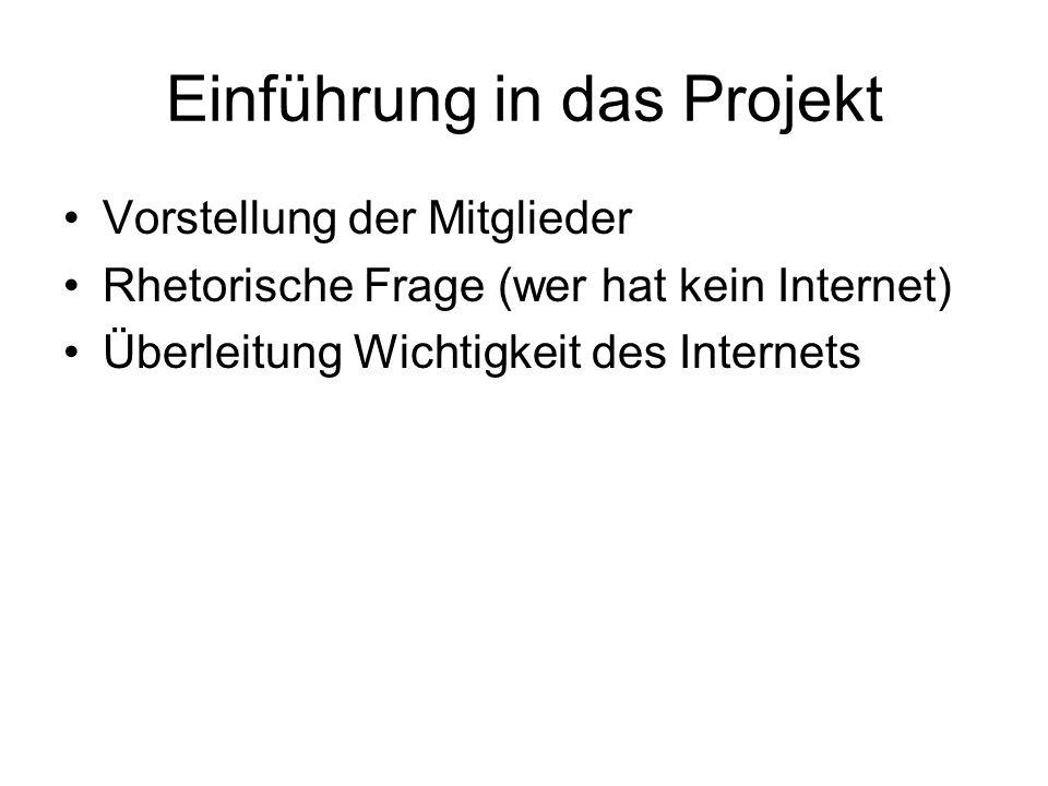 Einführung in das Projekt