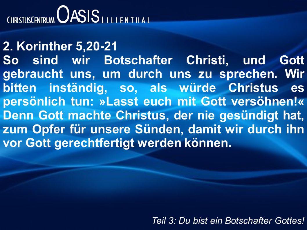 2. Korinther 5,20-21