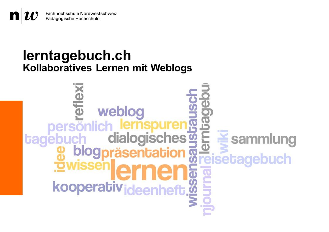 lerntagebuch.ch Kollaboratives Lernen mit Weblogs 1