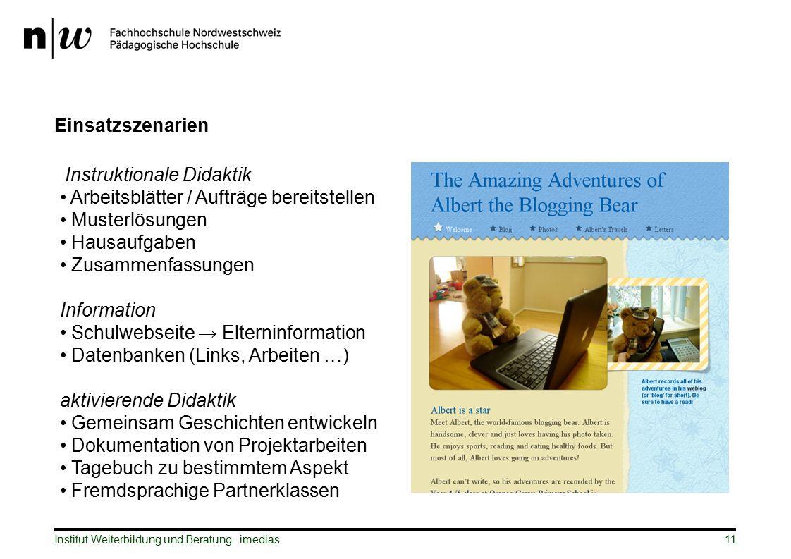 Instruktionale Didaktik Arbeitsblätter / Aufträge bereitstellen